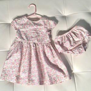 Ralph Lauren Floral Smocked Dress & Bloomer Set